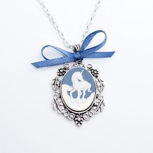 Jewelry - Vintage Style Unicorn Cameo Handmade Necklace
